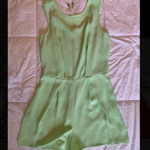 Mint Green Romper with Lace Detail